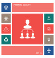hierarchy icon symbol elements for your design vector image