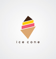 ice cream cone logotype vector image