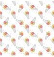 Ice creams pattern vector image