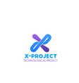 icon for technological project vector image