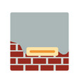 icon of plastered brick wall vector image