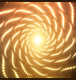 infinite spirals tunnel of shining vector image