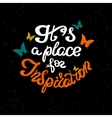 It is a place for inspiration scribble handwritten vector image vector image