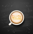 its time for coffee vector image vector image