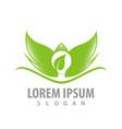 leaf wings bulb logo concept design symbol vector image