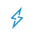 letter s thunder shape geometric line design logo vector image vector image