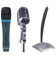 microphones vector image vector image