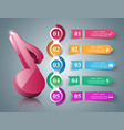 music education infographic note icon vector image vector image