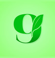 nature lettering for green ecology logo vector image vector image
