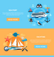 nautical banners set vector image vector image