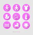 new bagirl logo set vector image vector image