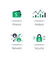 online finance internet banking web security vector image vector image