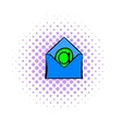 Open envelope with e-mail sign icon comics style vector image
