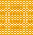 orange seamless honey combs pattern honeycomb vector image