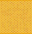 orange seamless honey combs pattern honeycomb vector image