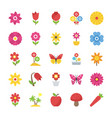 pack of natural beauty flowers flat vector image
