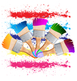painting brush vector image vector image