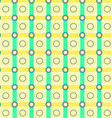 pattern geometric yellow and green vector image vector image