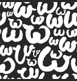 pattern with calligraphy letters w vector image
