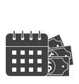 payment date icon vector image