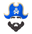 pirate mask icon entertainment and costume fun vector image