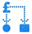 Pound Cashflow Grainy Texture Icon vector image vector image