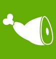 roast pork knuckle icon green vector image vector image