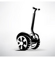 segway outlined symbol electric scooter vector image vector image