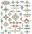 set bright geometric tribal design elements vector image