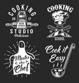 set of cooking emblem vector image vector image