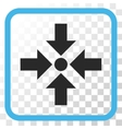Shrink Arrows Icon In a Frame vector image vector image