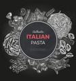 sketch pasta banner hand drawn vector image vector image