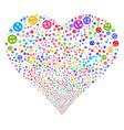 smile fireworks heart vector image vector image