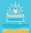summer travel seascape with seagull and sailboat vector image vector image