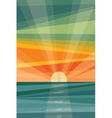 Sunset on beach Geometric abstract vector image vector image