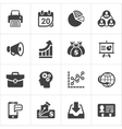Trendy business and economics icons set 2 vector image vector image