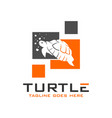 turtle logo design template vector image vector image