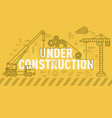 under construction website banner design concept vector image