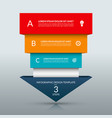 up arrow infographic template vector image vector image