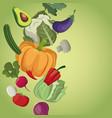 vegetables healthy fresh ingredients nutrition vector image