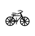 vintage bicycle silhouette vector image vector image