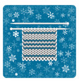vintage card knitting snowflakes background white vector image vector image