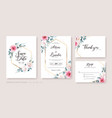 wedding invitation save date thank you rsvp vector image vector image
