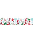 winter leaves seamless border scandinavian vector image