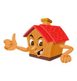 wooden house with a face vector image vector image