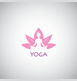 Yoga logo lotus concept vector image