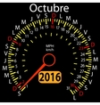 2016 year calendar speedometer car in Spanish vector image vector image