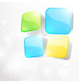 3d bright abstract background with cubes vector image vector image
