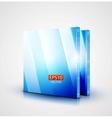 3d glass blue screen vector image
