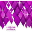 abstract background of purple diamonds vector image vector image